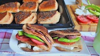 Sandwich Bread With Pockets / Turkish Food Recipes By Aysenur Altan