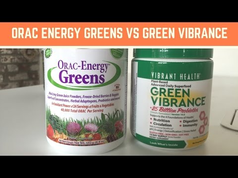Green Vibrance Vs ORAC Energy Greens 1