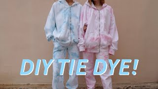 DIY TIE DYE: Matching Sets! *how to*