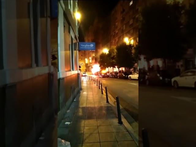 Incendio de contenedores en Santander
