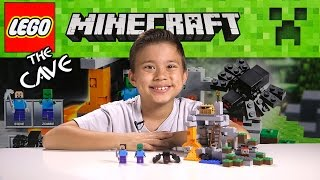 LEGO MINECRAFT - Set 21113 THE CAVE - Unboxing, Review, Time-Lapse Build
