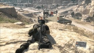 Amazing Sniper Gameplay from Cool Stealth Game MGS 5 Phantom Pain