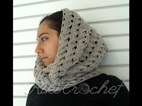Crochet Cable Stitch Infinity Scarf Youtube