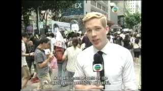 7.1 HK rally(2012-07-01)TVB Pearl News report