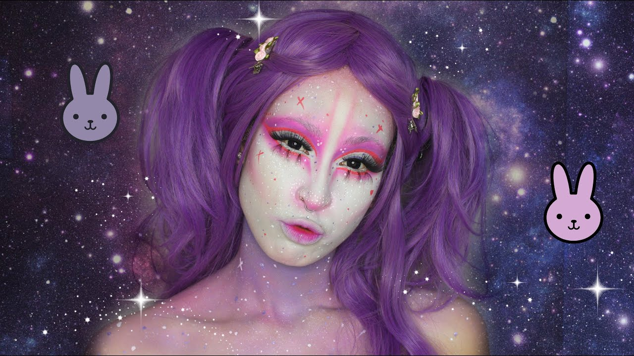 Kawaii Space Bunny | Halloween Makeup Tutorial - YouTube