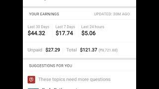 Make money online 10$ -20$ per day| Live Proof |Quora partner program
