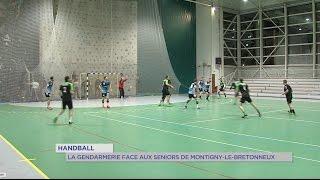 Handball : la gendarmerie face aux équipes séniors de Montigny-le-Bretonneux