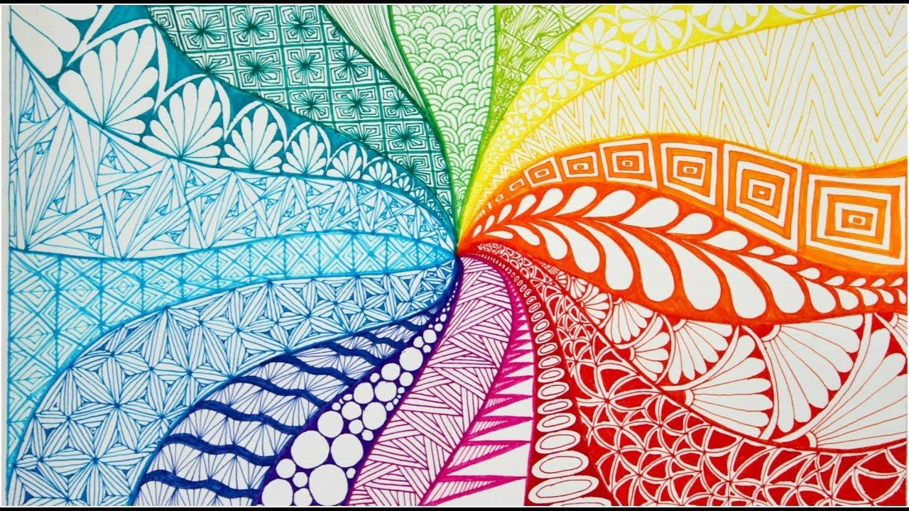 patterns zentangle doodle zen