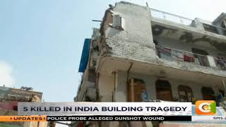 5 killed in a collapsed India building #DayBreak