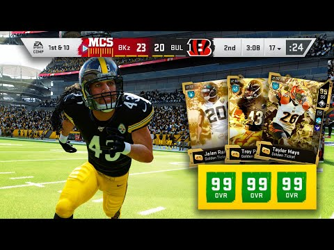 I ACTIVATED 3 GOLDEN TICKETS ON DEFENSE...HITSTICKS EVERY PLAY! - Madden 20 Ultimate Team