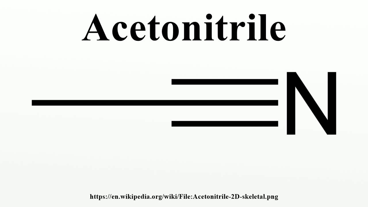 Acetonitrile - YouTube
