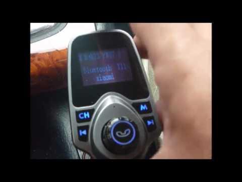 Transmisor FM de VicTsing para Vehículo, Adaptdor de Radio de 1,44 pulgadas Carcador de Coche de USB