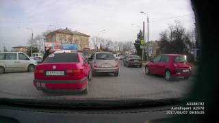 драка на дороге в Севастополе