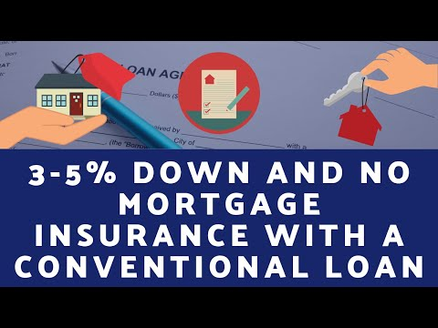 3- 5% Down and No Monthly Mortgage Insurance with a Conventional Loan