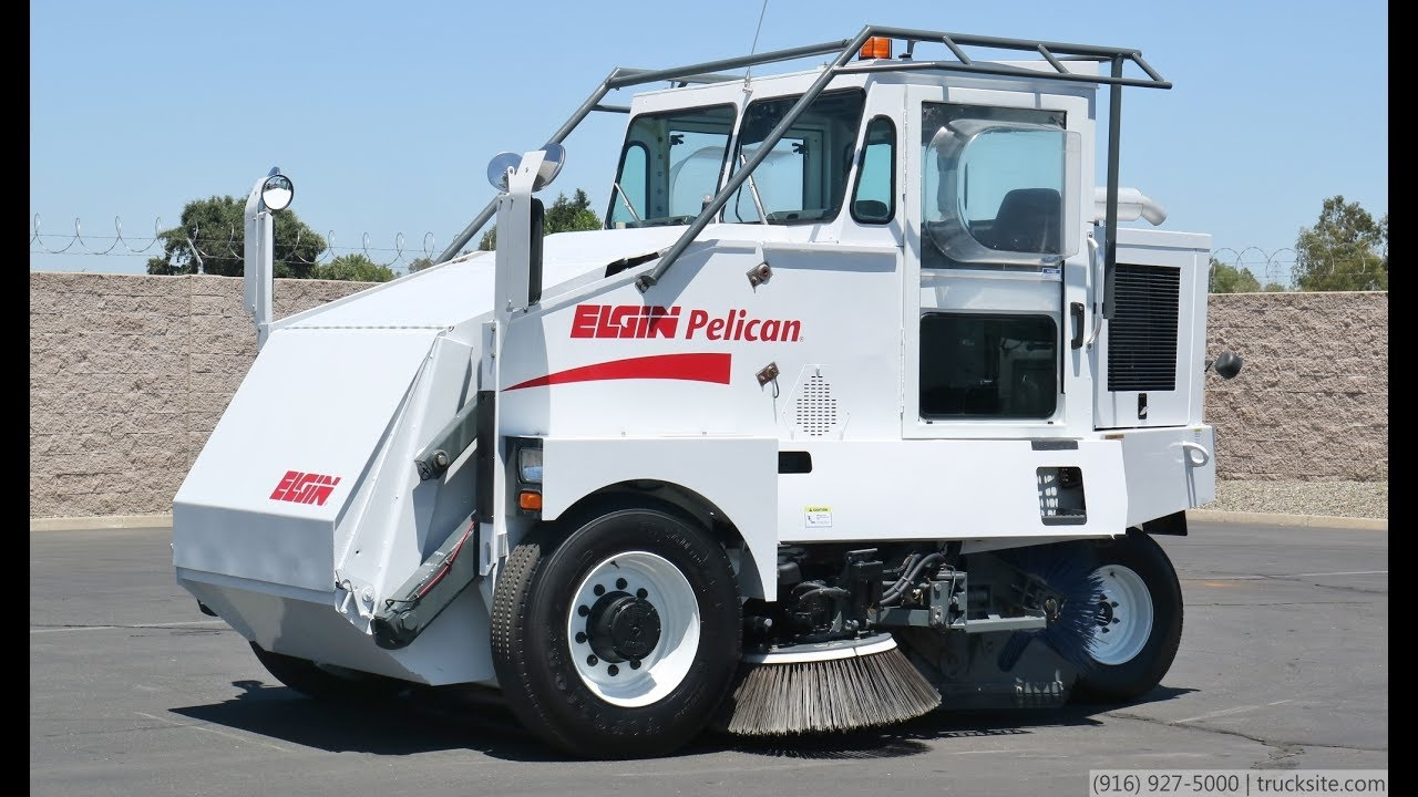 2006 Elgin Pelican Mechanical Broom Street Sweeper Youtube