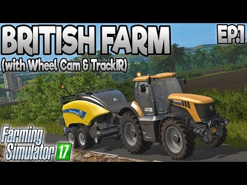 Farming Simulator  17 - White Oak 17  - Ep.1: BRITISH MAP! (with Wheel Cam)