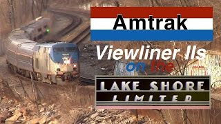 Viewliner II Baggage Cars on the Amtrak Lake Shore Limited