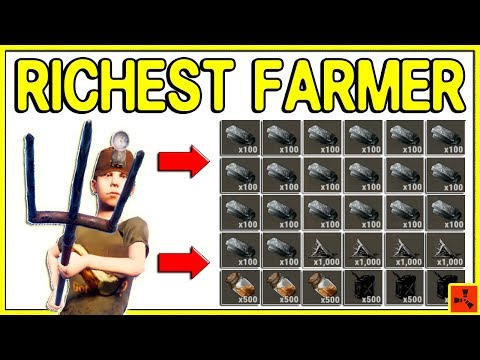Rust GOING DEEP on RICHEST FARMER - Wealthiest Shop Raids & PvP Plays (Rust Rich Raids) thumbnail