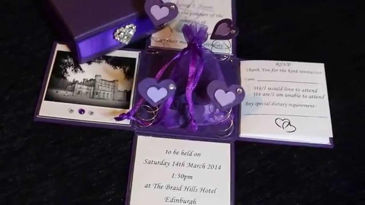 Confetti Exploding Box Wedding Invitation