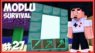 SINIRSIZ ELMAS ve KIRILMAZ ELMAS ARAÇLAR - Minecraft Modlu Survival - #27