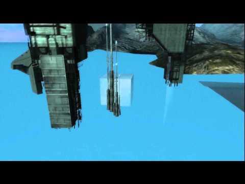 Halo Reach: Huge White Cube Easter Egg