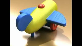 3d Model Of 3d Model Wooden Toy Car Truck & Plane