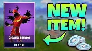 NEW CLOAKED SHADOW SKIN GAMEPLAY / Fortnite Battle Royale Live