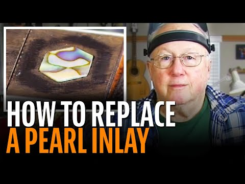 Removing and replacing a Martin D-45 pearl inlay