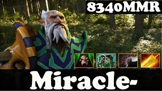 Dota 2 - Miracle- 8340 MMR Plays Lone Druid vol 2 - 2 Games - Ranked Match Gameplay