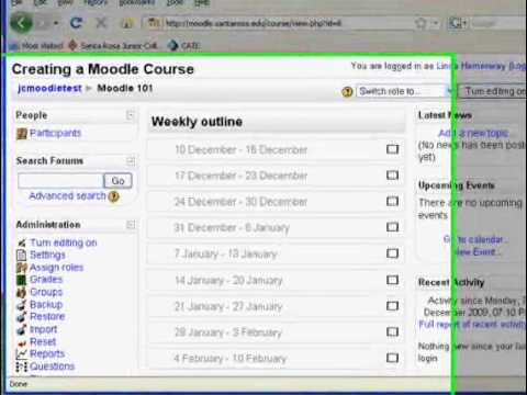 Creating a Moodle Course