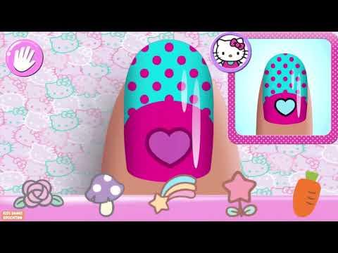 Hello Kitty Nail Salon Play Fun Nail Salon Art Designs Games For