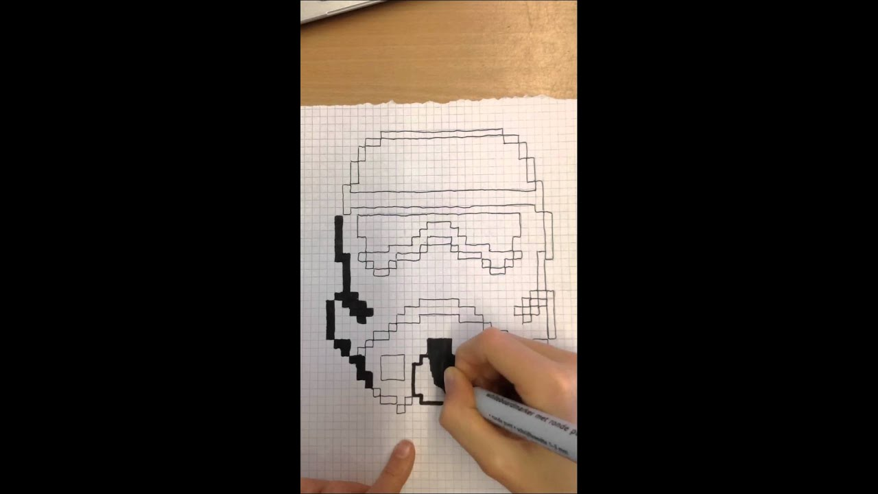 Pixel Art Star Wars Stormtrooper By Renault Lecar