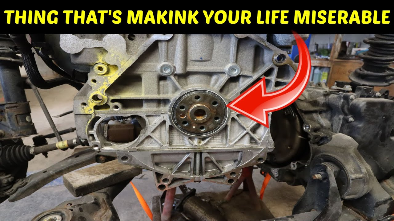 Chevy Equinox 2 4 Ecotec Leaking Rear Main Seal Replacement