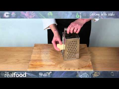 How to Grate Cheese - Cooking with Kids