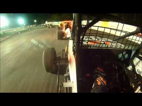 Jake Williams #73 Wingless In-Car   SCoNE at Bear Ridge Speedway 8-30-2014