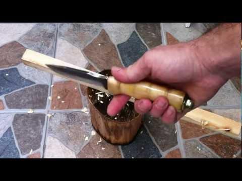 Тест ножа из напильника