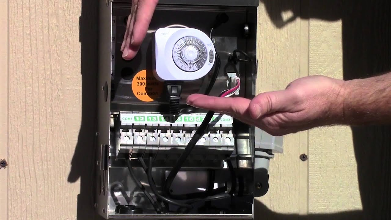 Wiring A Time Clock And Contactor Database Model Diagram Visio 2010 Using The Timer Photocell Together Youtube