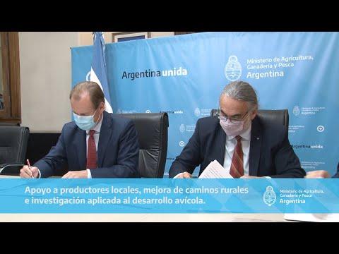 Basterra y Bordet firmaron convenios por más de $80 millones para fortalecer la producción agropecuaria