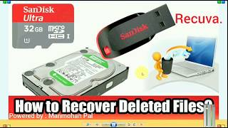 How to recover deleted files From Pendrive, Recuva -By Ask Manmohan