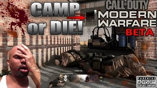 BOYZ out here CAMPIN like GIRL SCOUTS in the MODERN WARFARE Beta 😂 New CYBER ATTACK Game mode