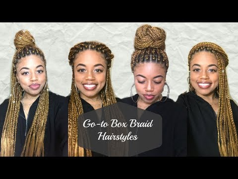 How To: Style Box Braids   My 5 Go-to Hairstyles