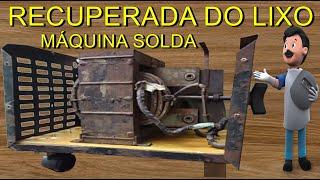 COMO FAZER RECUPERAÇÃO EM MÁQUINA DE SOLDA ELÉTRICA - SUCATA / ELETRIC WELDING MACHINE(Olá amigos, neste video ensino com reciclar sucata de máquina de solda eletrodo, fazendo a manutenção (concerto ) em toda a parte elétrica, cabos de obra, ..., 2016-04-16T19:11:27.000Z)