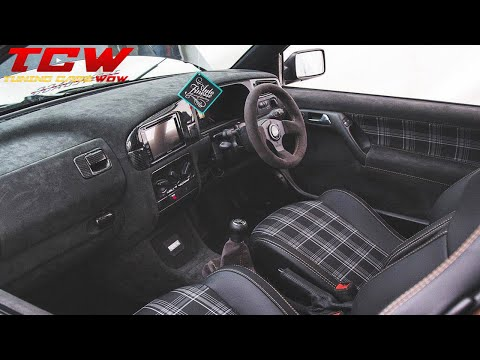Bagged Mk3 Golf R32 Custom Interior Project Car By Keil