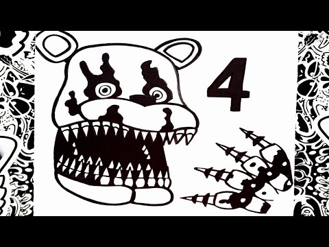 Como Dibujar A Five Nights At Freddy S 4 How To Draw Five