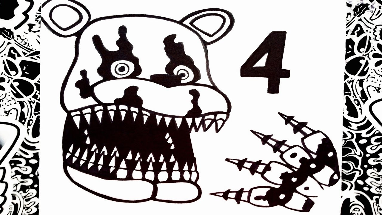 Como dibujar a five nights at freddy s 4 how to draw five nights at