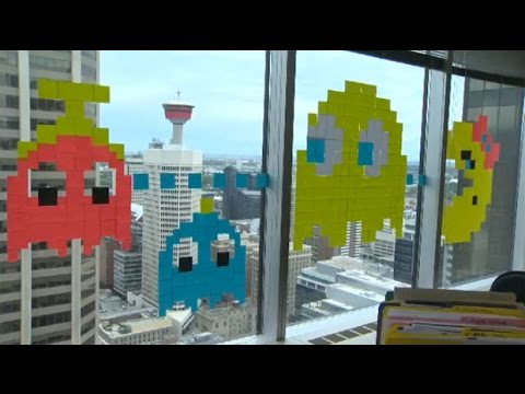 Post-It war: Office workers get creative with coloured notes