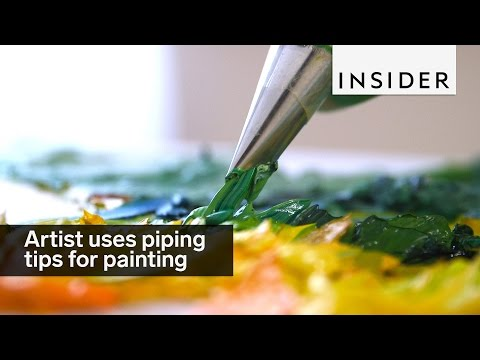 This Artist Uses Piping Tips To Make Textured Paintings