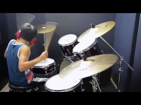 Uptown Funk - Mark Ronson ft. Bruno Mars - Drum Cover By 11 Year Old Joh Kotoda