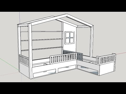 House Shaped Twin Kids Bed Build (part 1)