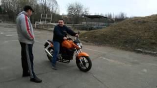 Первое занятие по вождению на мотоцикле
